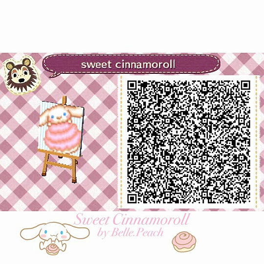 Mayor Tiffany Belle Peach Made Some Cinnamoroll Designs For Animal Crossing Animal Crossing 3ds Animal Crossing Qr