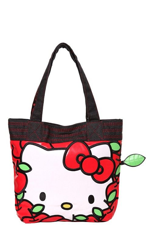 40993295c Loungefly - Hello Kitty Red Apples Tote ~ Purrrfect Teacher Gift ...