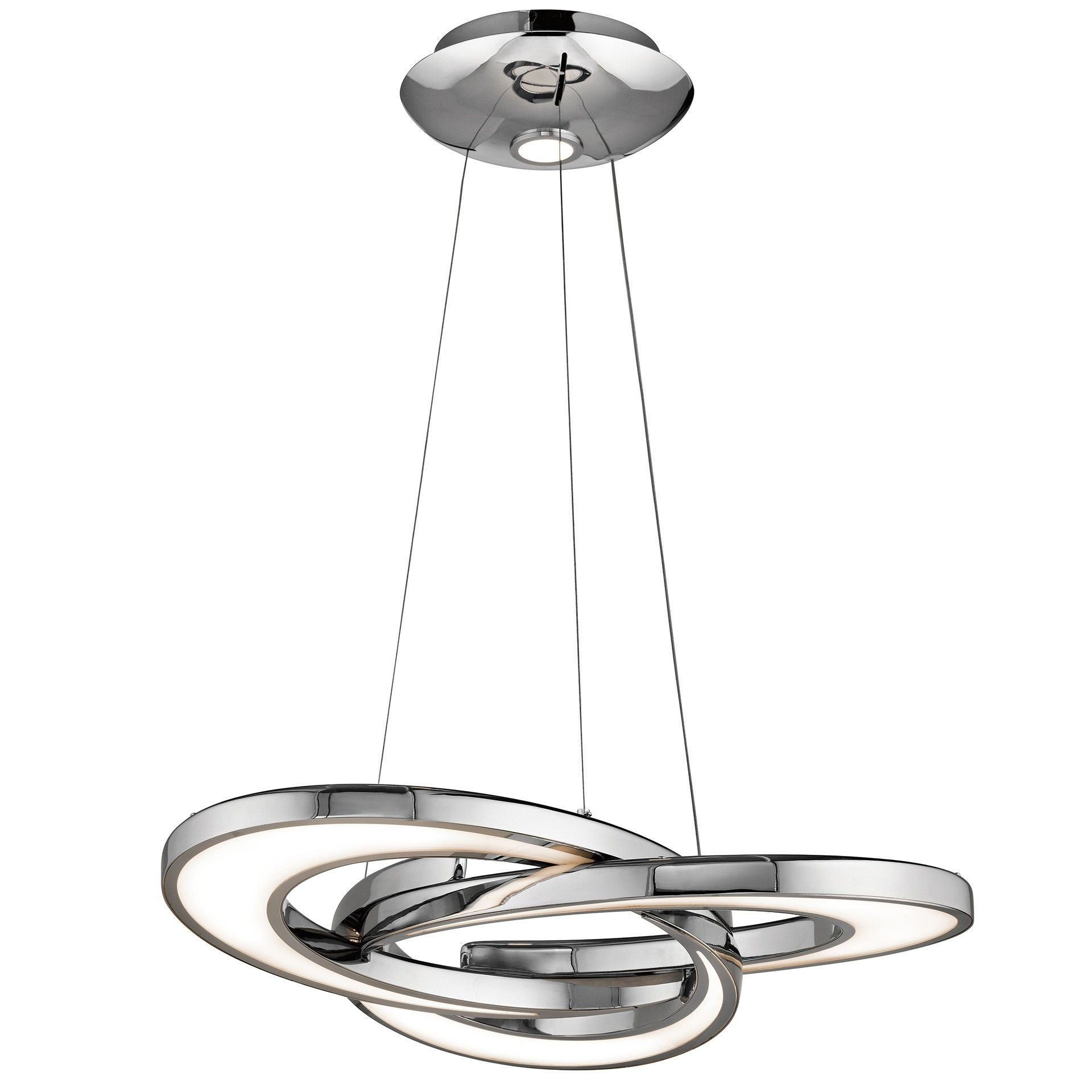 Elan Destiny LED Chandelier Chrome Finish with Etched