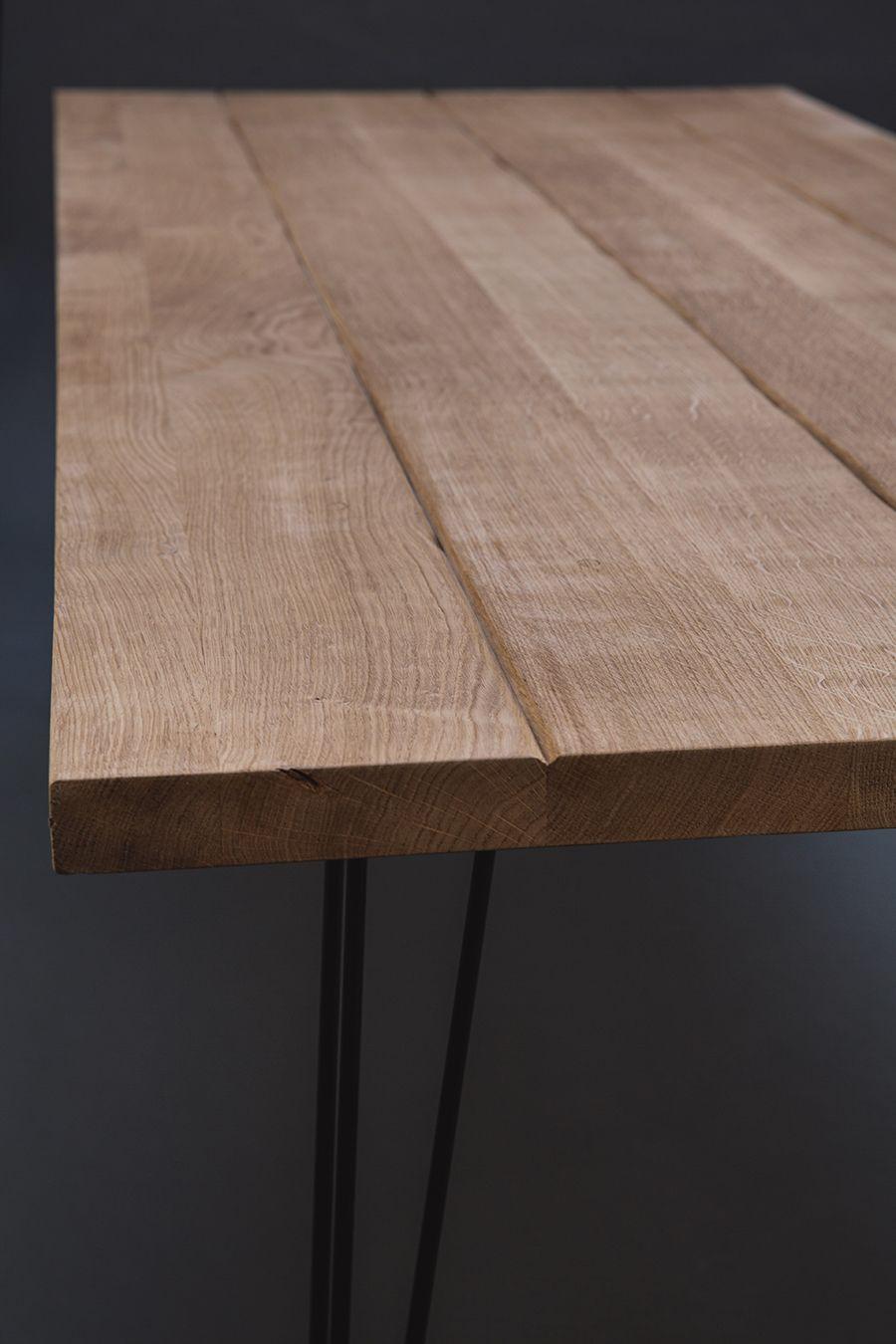 Magnifique Table En Chene Massif Avec Un Effet Vieille Planche De Ferme Chacune De Ces Planches Sont Tr Table Chene Massif Salle A Manger Bois Table En Chene