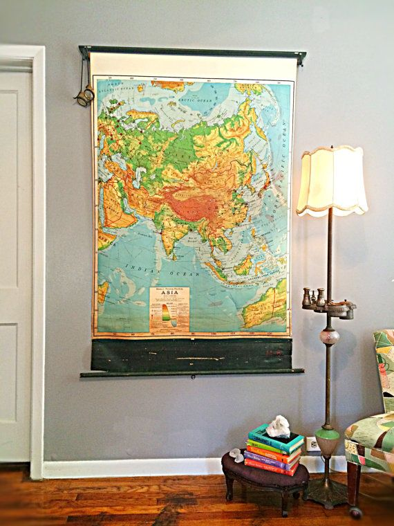 Pull down map world map antique map of Asia map of Australia map of ...