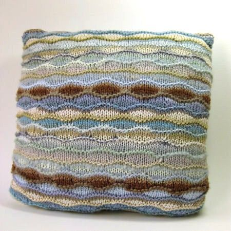 Ripple Stitch Cushion or Bag Knitting Pattern by clairecrompton