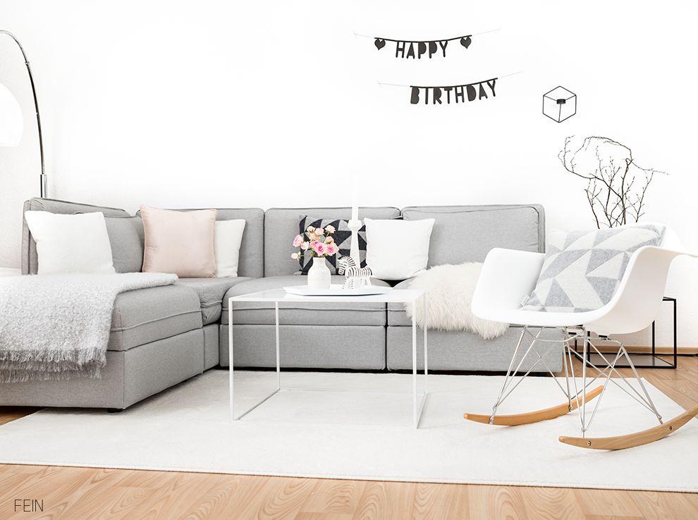 Wohnzimmer Sofa grau scandi Livingroom Feinfabelhaft LIVING