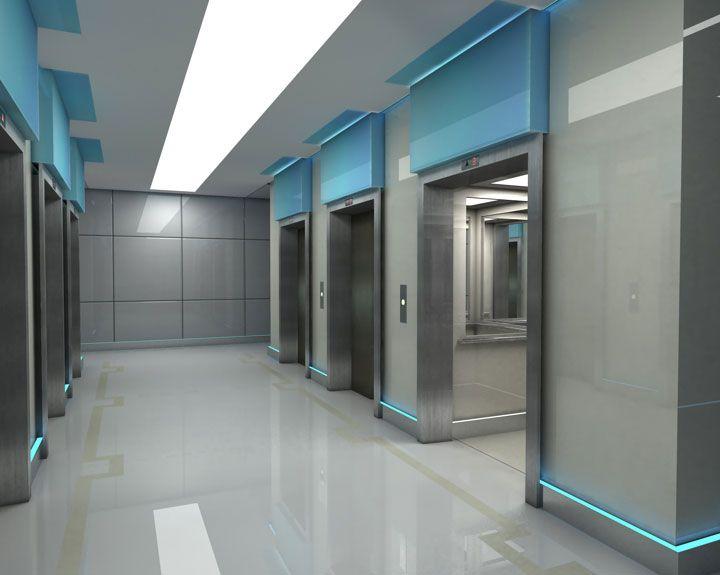 office lift lobby - Google Search   Hospital interior ...