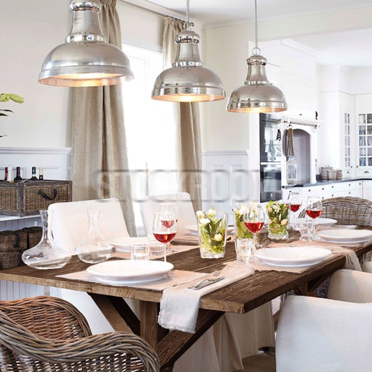 Farm Style Recycled Solid Elm Wood Trestle Based Dining Table STOCKROOM HONG KONG Contemporary Furniture