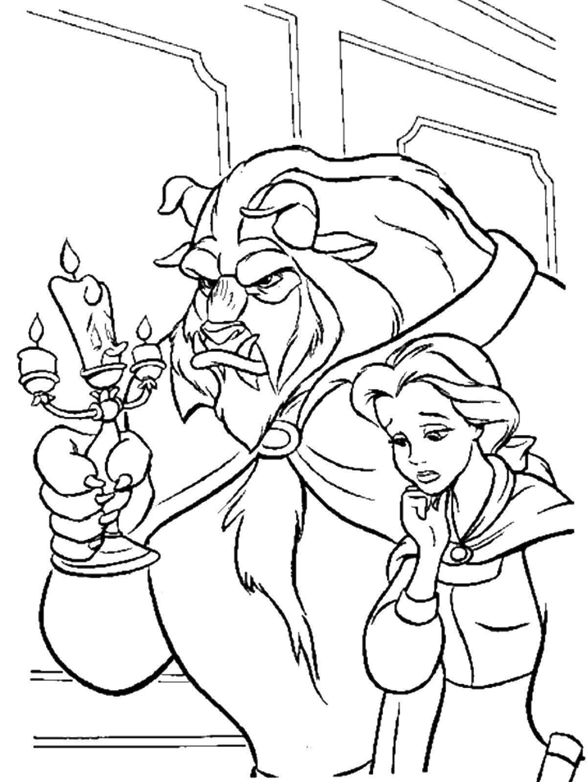 disney coloring book Beauty & Beast в 2020 г | Раскраски