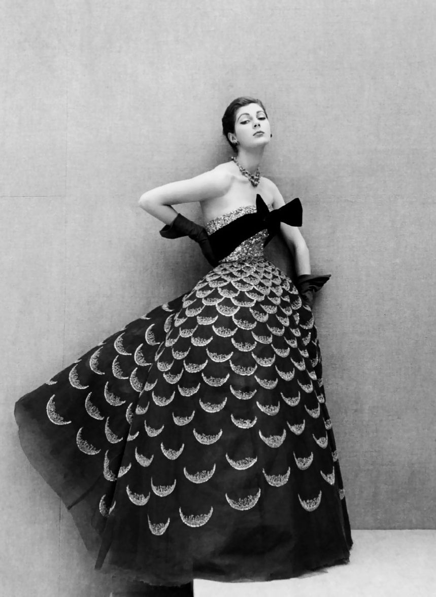 "alwaysbevintage: ""Fiona Campbell-Walter in Dior, photographed by Henry Clarke, 1951 """