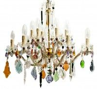 Gorgeous vintage colored crystal Chandelier