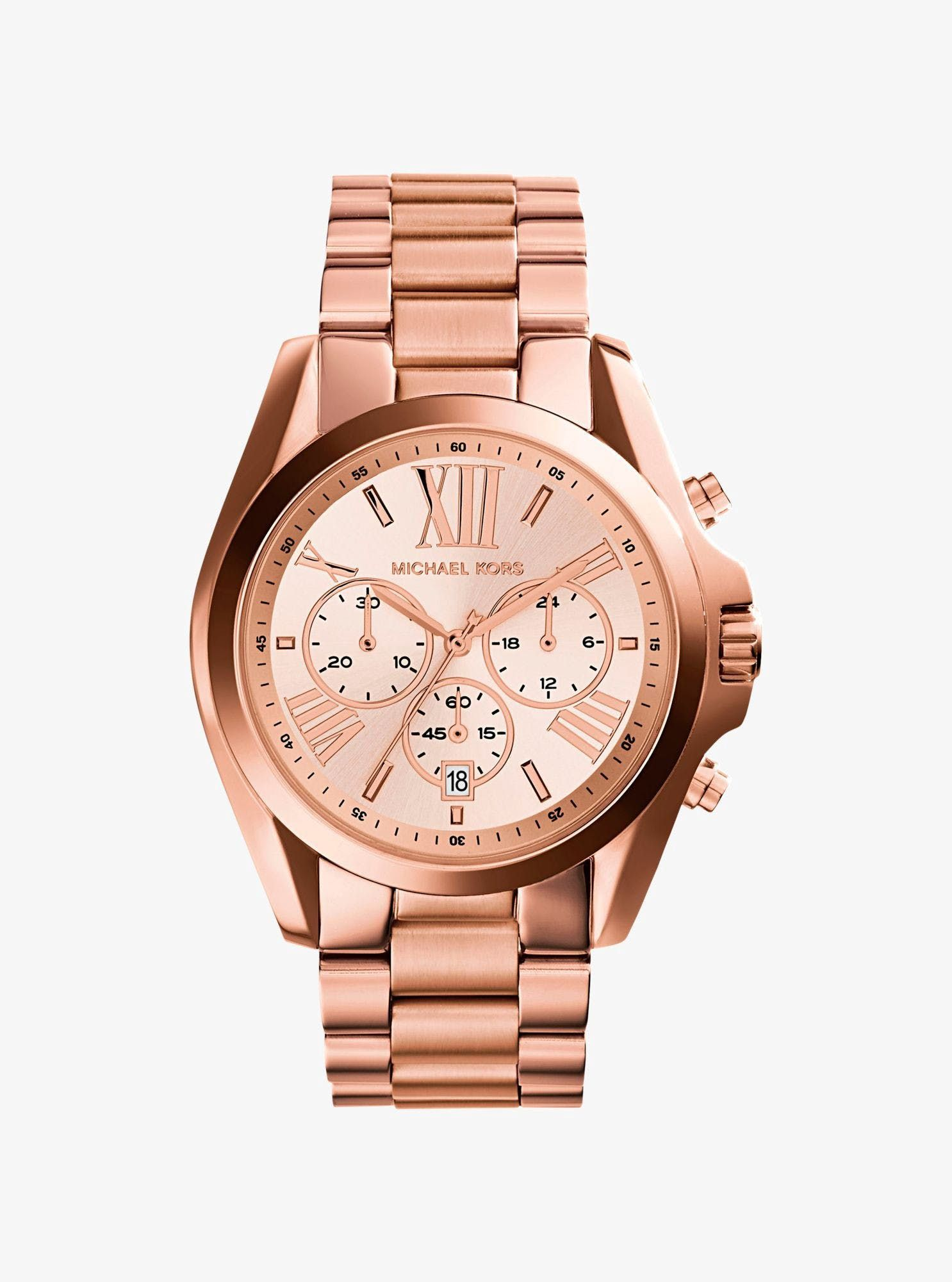 9720051d7c25d Oversize Bradshaw Gold-Tone Watch   Michael Kors MK6266   watches    Jewelry, Watches, Michael kors