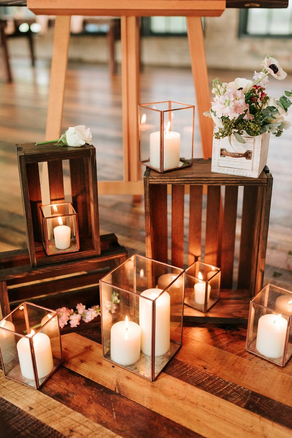 This 35k blush and copper industrial boho chic wedding is the cutest rustic chic wedding decor junglespirit Image collections