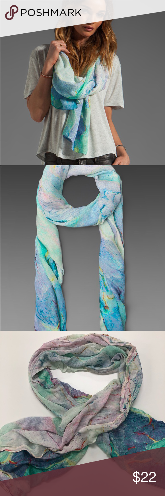 Sold Revolve Front Row Society Multicolored Scarf Multi Coloured Scarves Front Row The Row