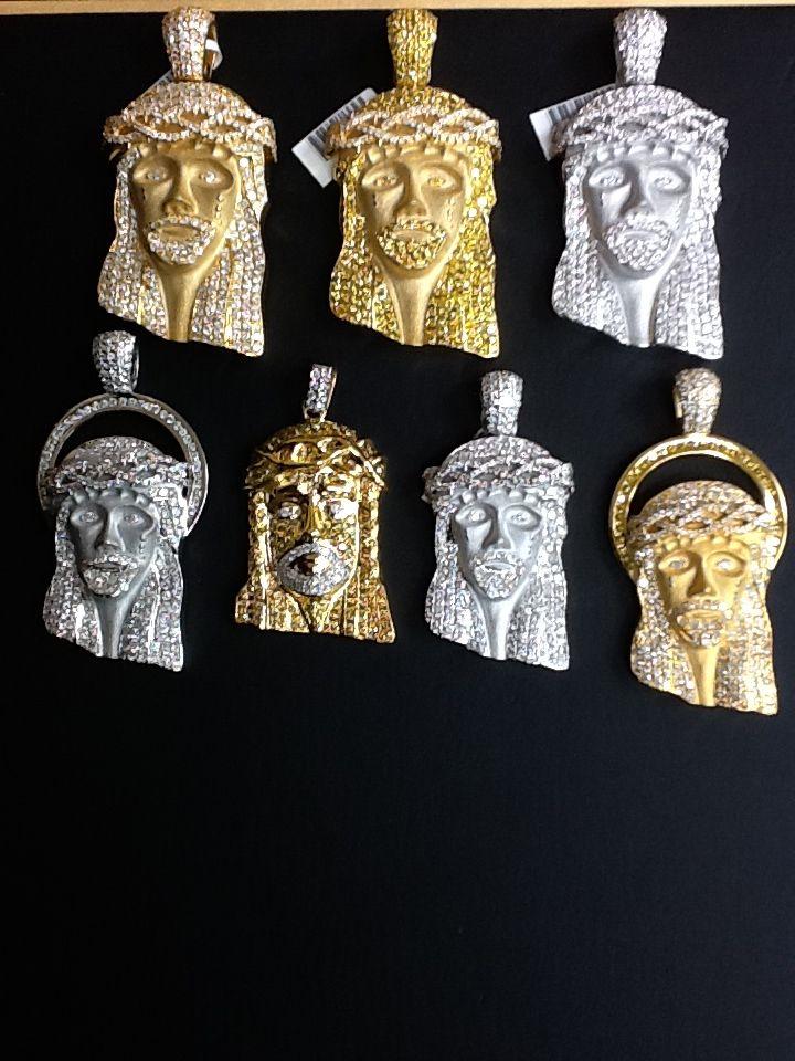 Diamond Jesus pendants!
