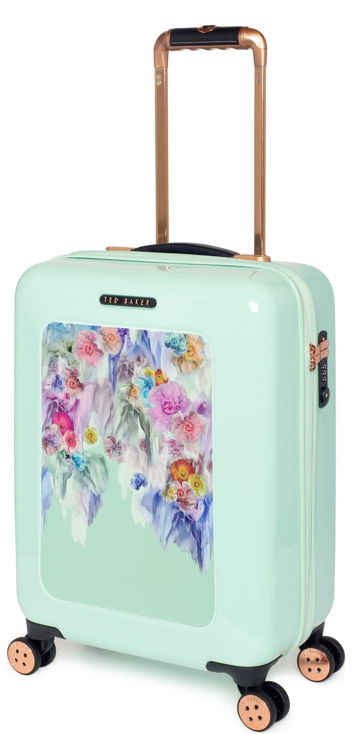 ed9ade176382 The gorgeous Mint Floral carry on case from Ted Baker s Take Flight  Collection. Also available in Medium and Large Check in Suitcases