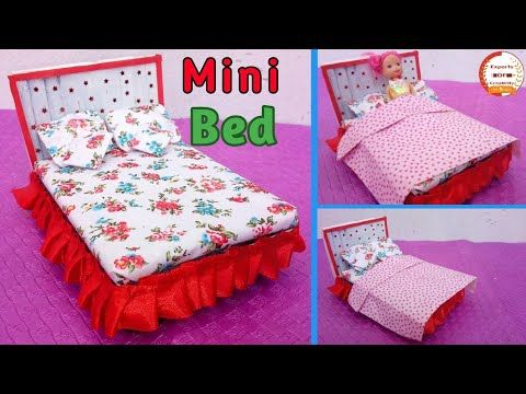 How To Make Miniature Bed For Dolls Miniature Craft How To Make Miniature Bed For Indian Dolls E.O.C