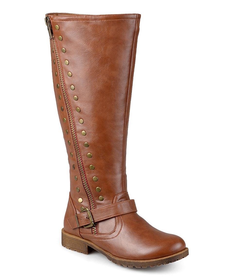 8f538555831b This Journee Collection Chestnut Tilt Wide-Calf Boot by Journee Collection  is perfect! #zulilyfinds. Journee Collection Women's Studded ...