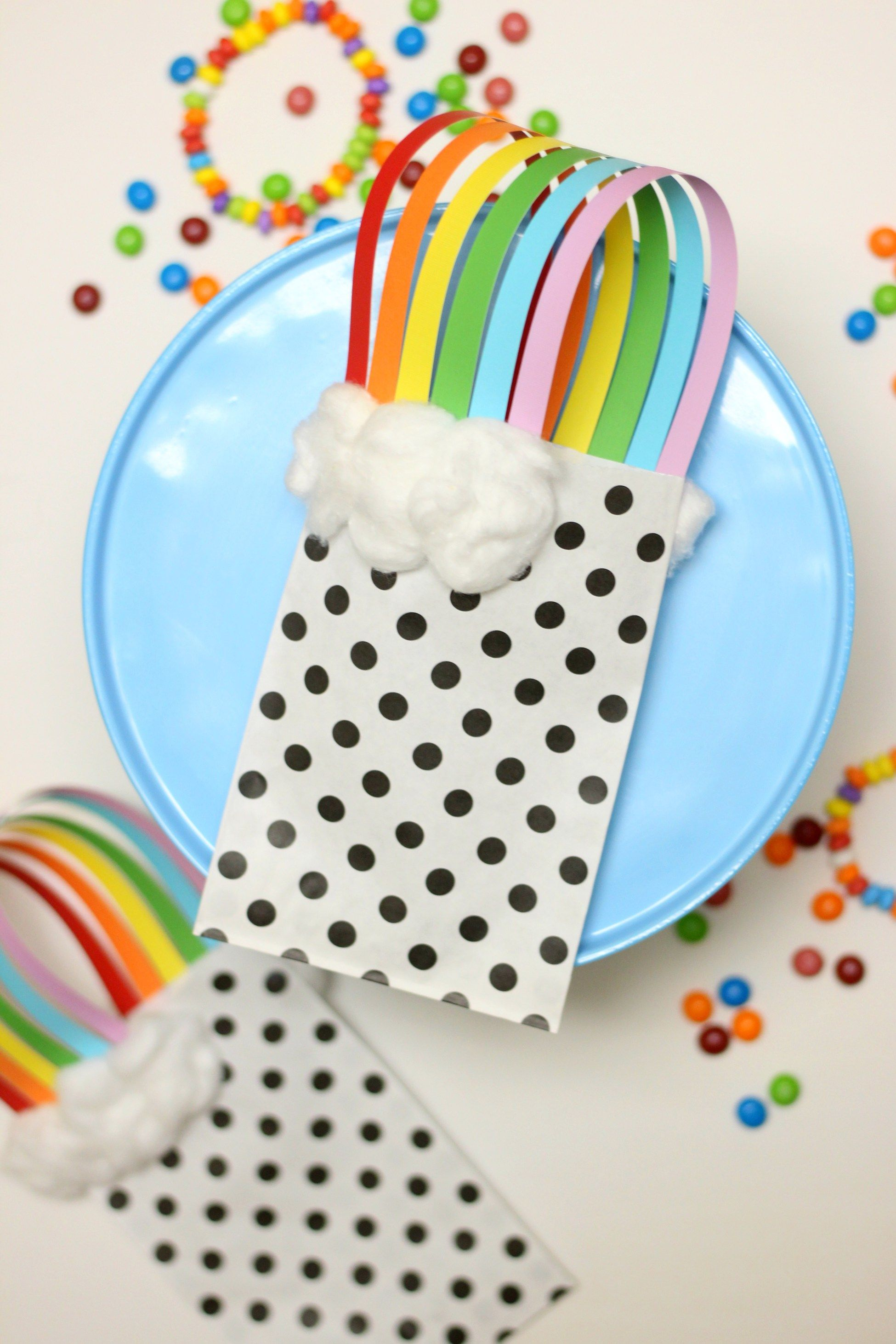 Rainbow Treat Bags for St. Patrick's Day or Rainbow Theme Party Favors