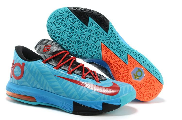 Buy Discount Aqua Blue/Pink/Red/Black Nike Zoom KD 6 N7 626368