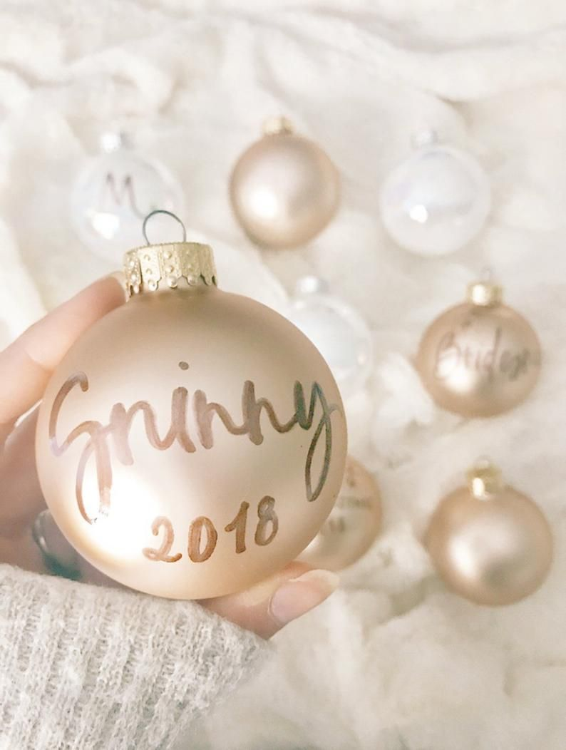 Rose Gold Ornament Blush Personalized Ornament Christmas Etsy Personalized Ornaments Letter Ornaments Custom Ornament