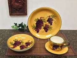 Tuscan Dinnerware Grapes Bing Images Wine Decor Kitchen