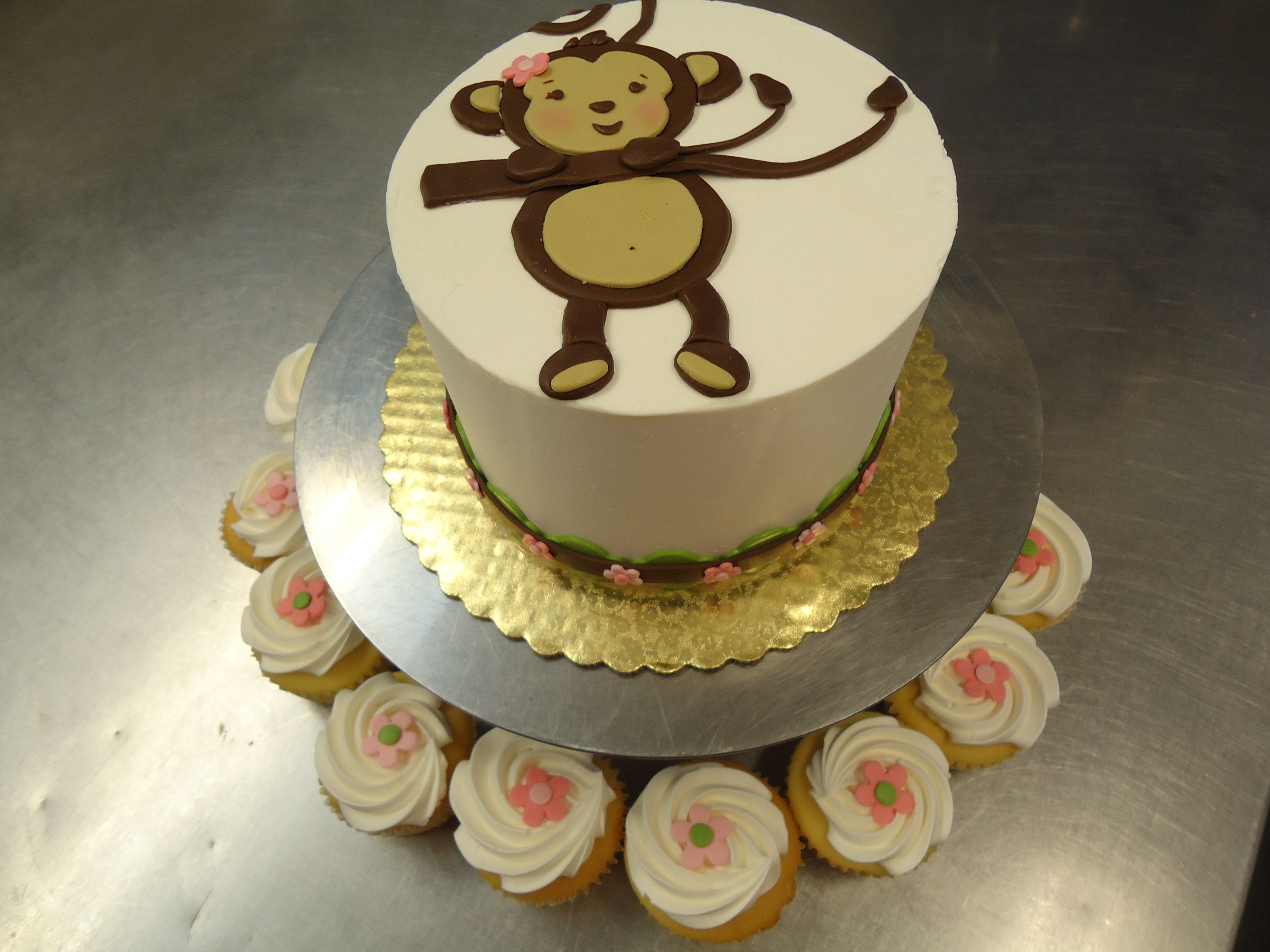 Monkey Girl Baby Shower Cake Made To Match This Adorable Theme Http