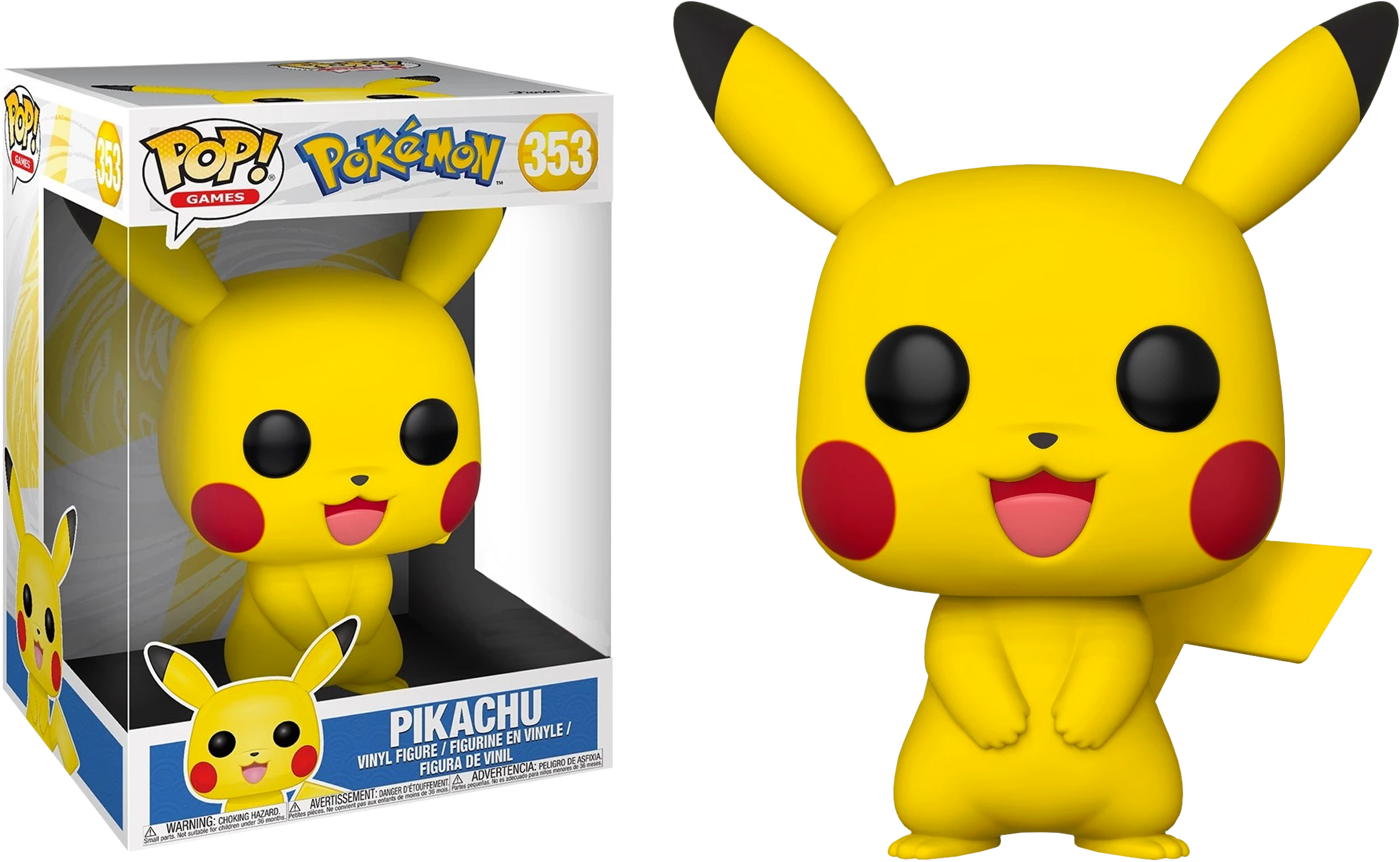 Funko Pop Games Pokemon Pikachu W Pop Protector 10 Inch 353 Vinyl Figures Pokemon Pikachu