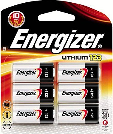 Energizer Cr123a Lithium 3v Battery 123 Cr123 Batteries 6 Count Energizer Battery Energizer Lithium Battery