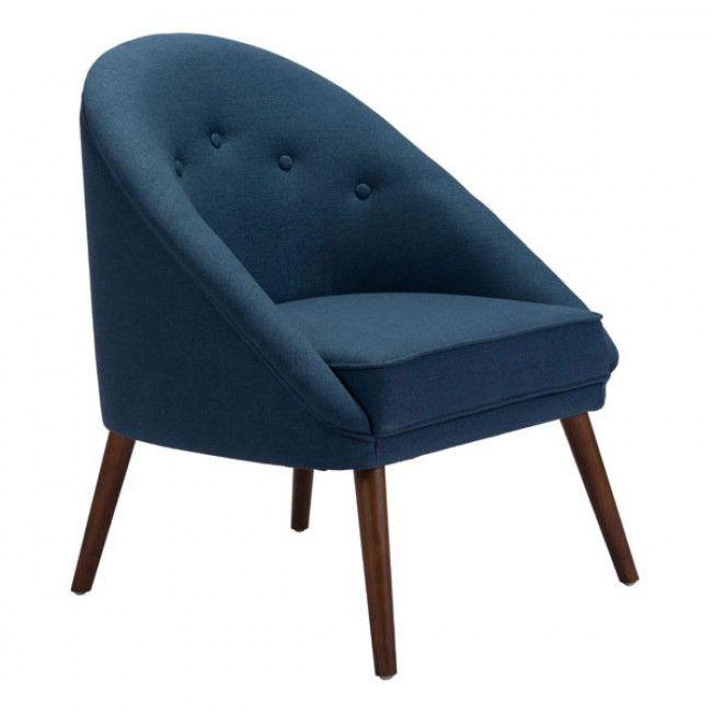 Best Carter Occasional Chair Cobalt Blue28W X 33H X 26D 400 x 300
