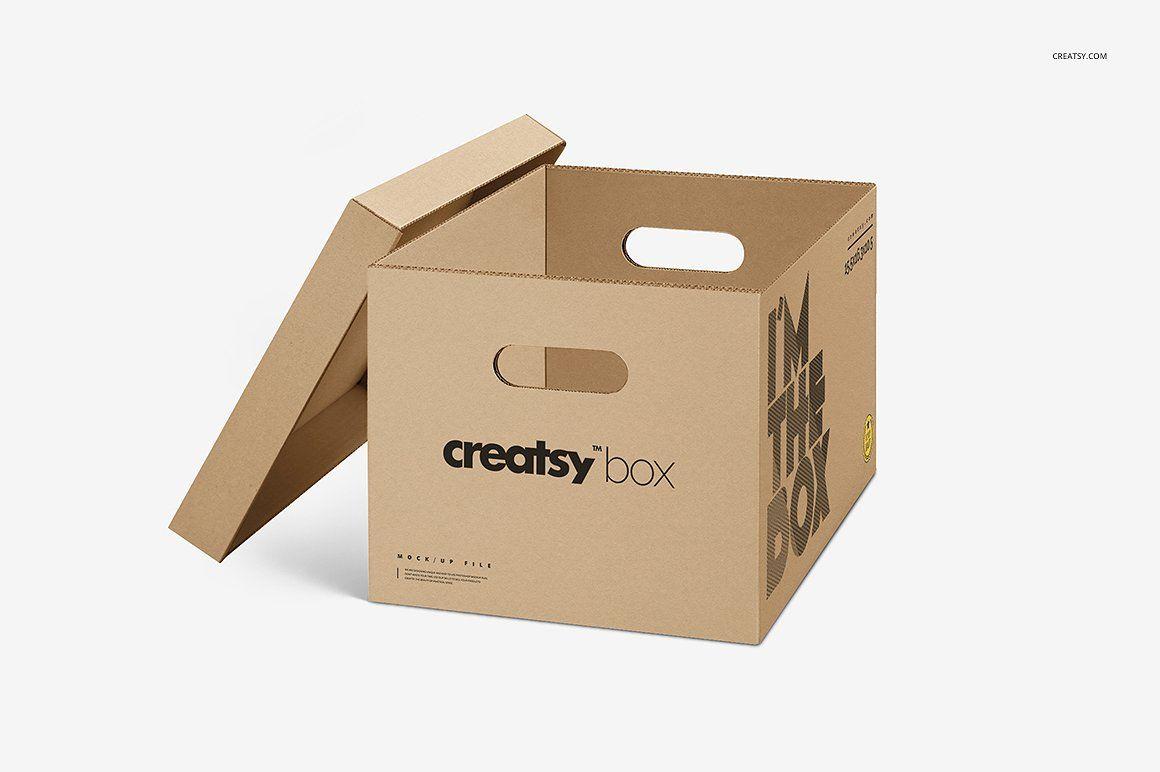 Download Moving Box Mockup Set Box Mockup Moving Boxes Creative Market