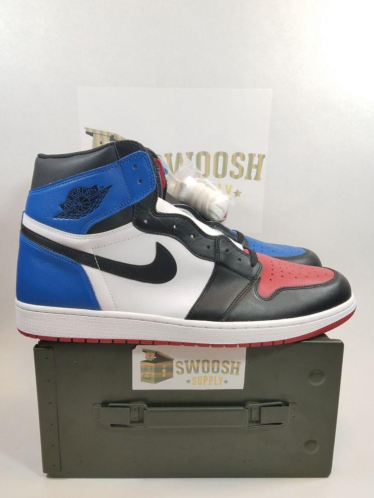 Nike Air Jordan 1 Retro High Og Top 3 Red Royal Blue Black 555088