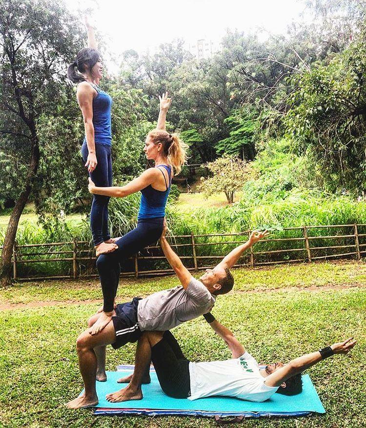 4 Person Yoga Poses Extreme Abc News