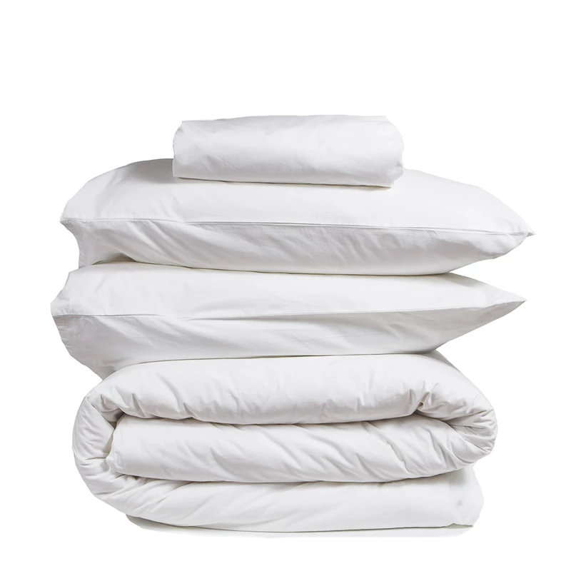 100 Organic Thick Crisp Cotton Percale Bedding Set White The Good Sheet Bedding Set Best Sheets Bed