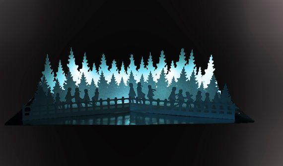 Frozen Lake Pop Up Card Template Pop Up Card Templates Pop Up Frozen Lake