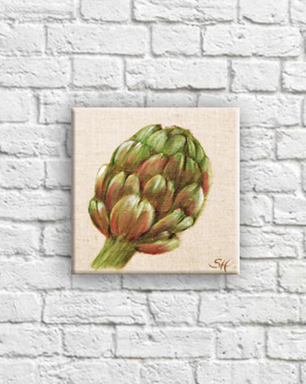 Tableau Artichaut Decoration Illustration Culinaire Saveur