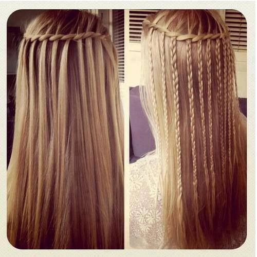Sensational Waterfall Braid Straight Hair Google Search Awesome Braids Hairstyle Inspiration Daily Dogsangcom