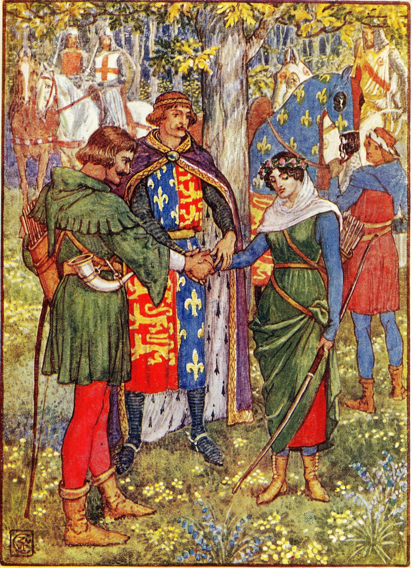Robin Hood Walter Crane Illustration Robin Hood