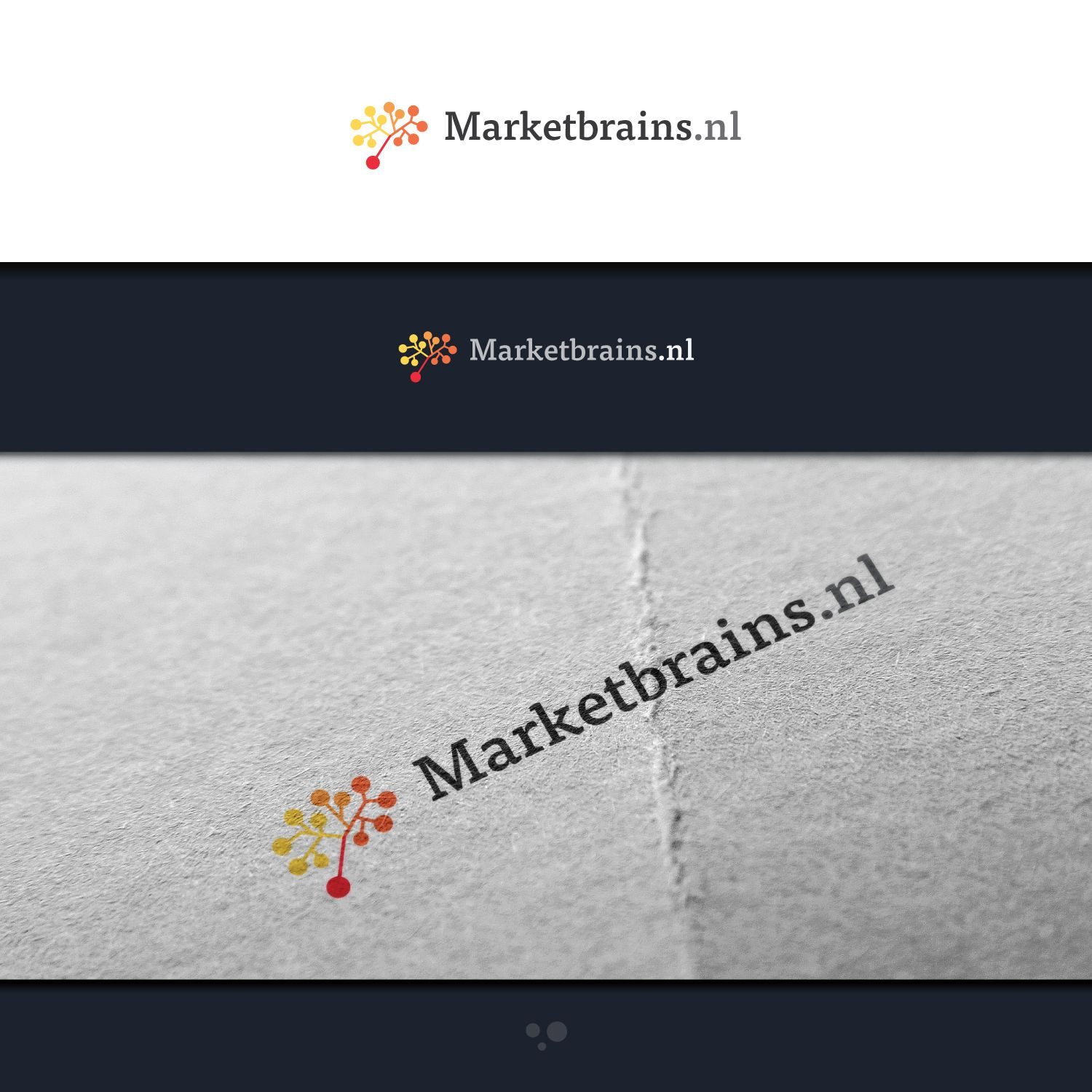 New logo design for Marketbrains.nl, an online ... Serious, Modern Logo Design by desert_fox99