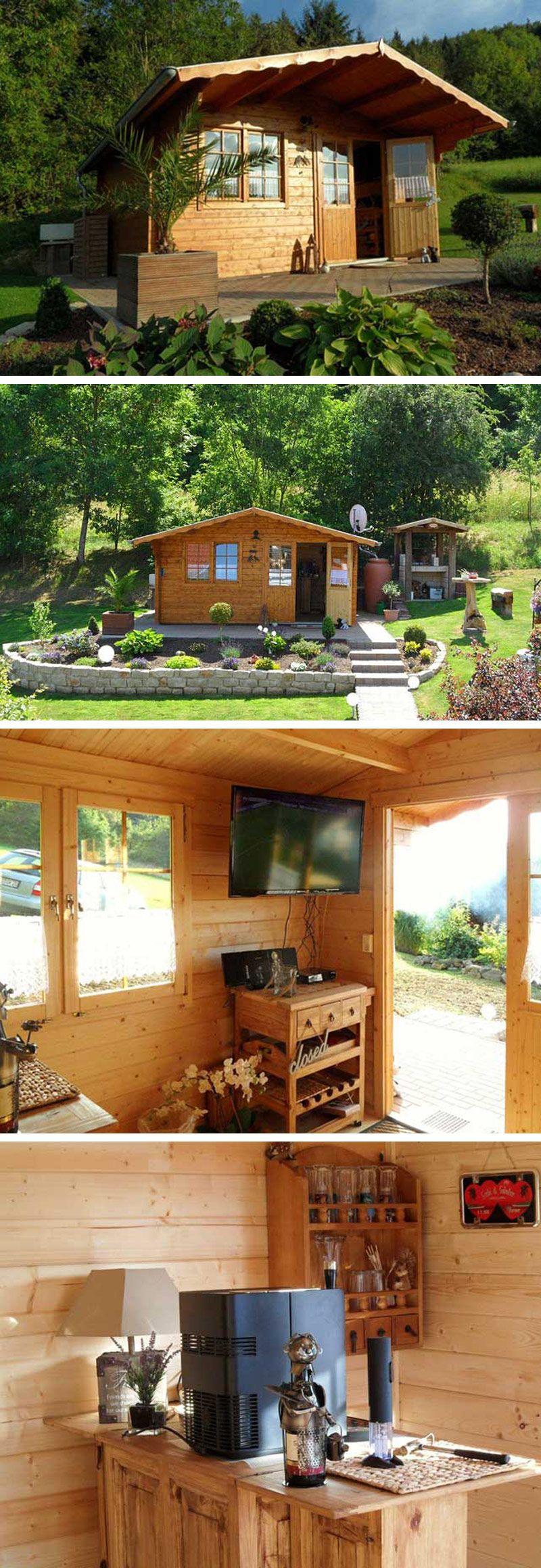 Gartenhaus in Hanglage Aufbau, Einrichtung und