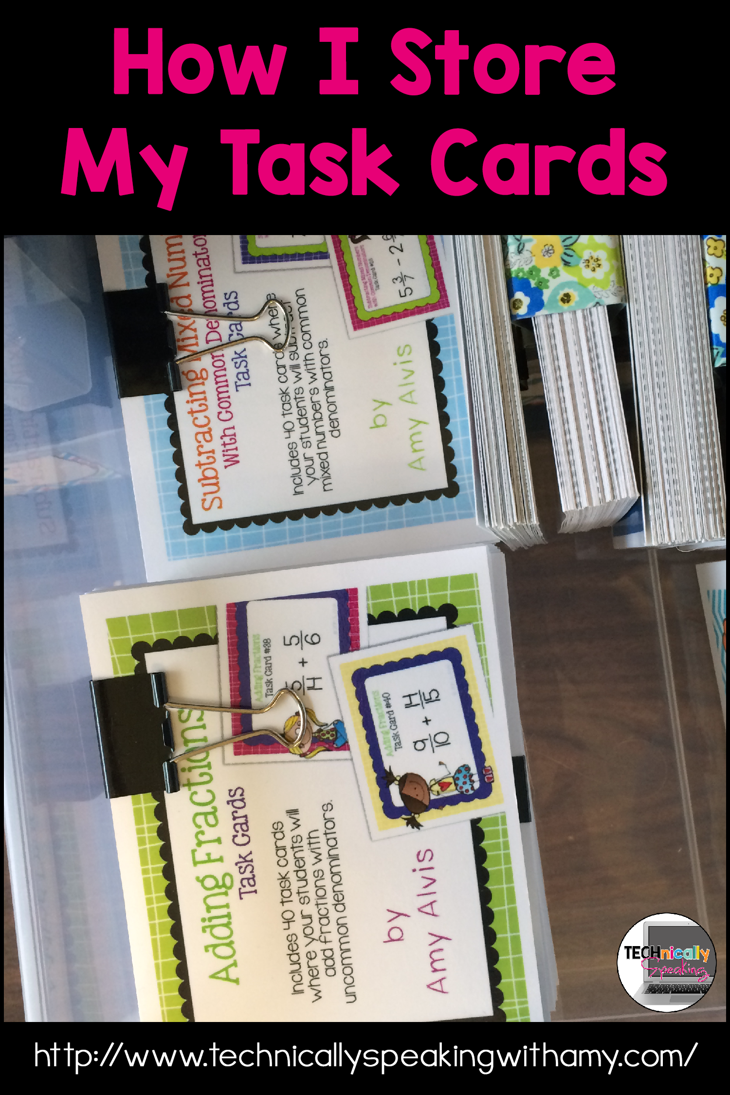 How I Store And Organize My Task Cards