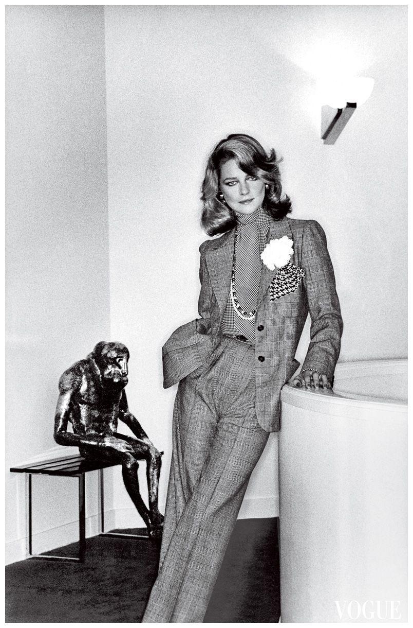 charlotte rampling by helmut newton for vogue jan 1974
