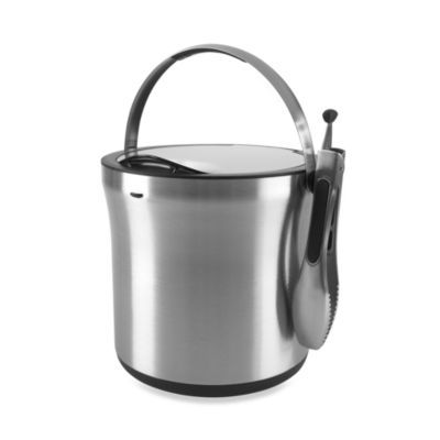 Oxo Steel 4 Qt Ice Bucket And Tong Set Bed Bath Beyond Steel Bucket Ice Tongs Ice Bucket