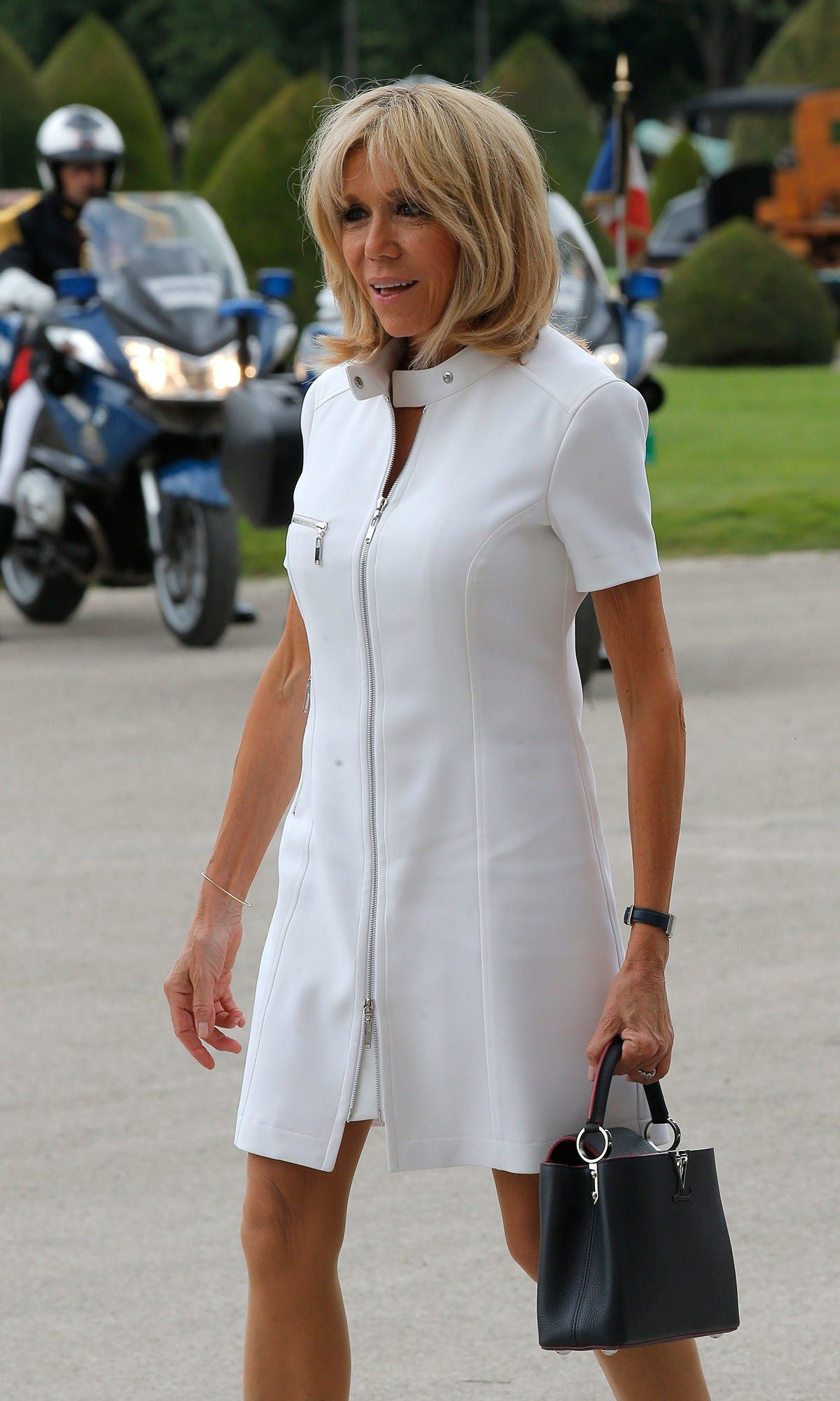 France's First Lady Brigitte Macron met America's Melania Trump in Paris  this afternoon, prompting the political version of last night's royal  fashion ' ...
