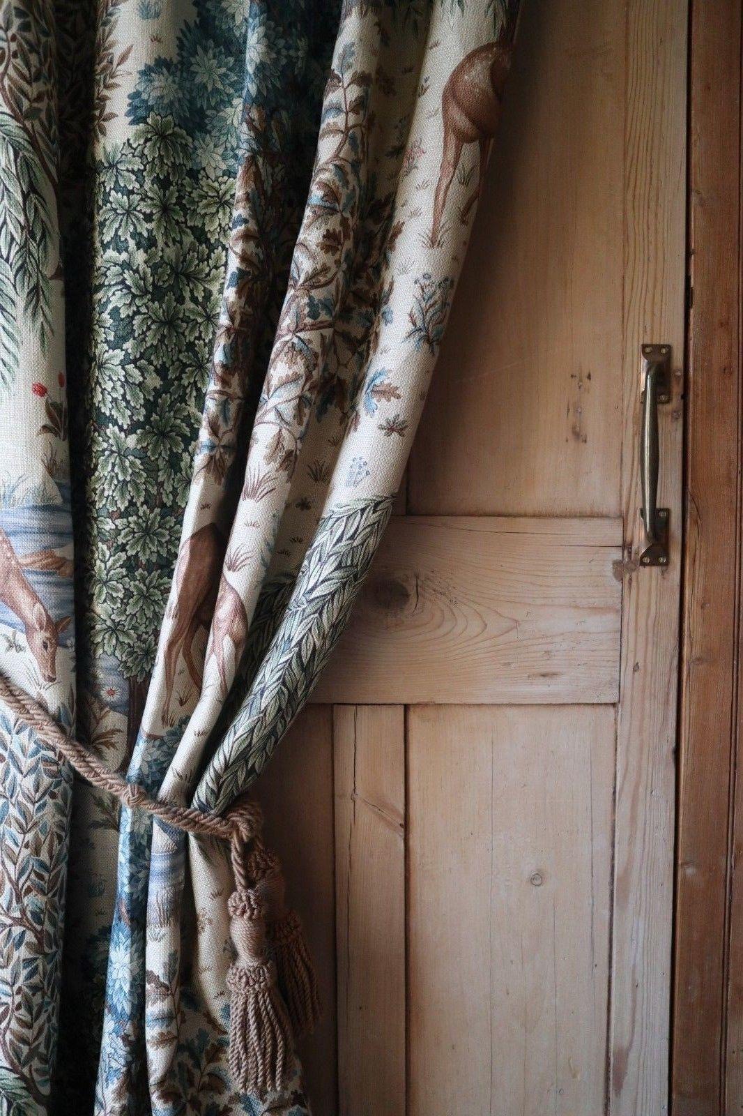 William Morris Co The Brook Luxury Thick Winter Door Curtain