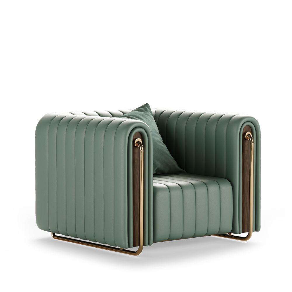 Rivers Armchair Furniture Living Room Sofa Design Art Deco Sofa