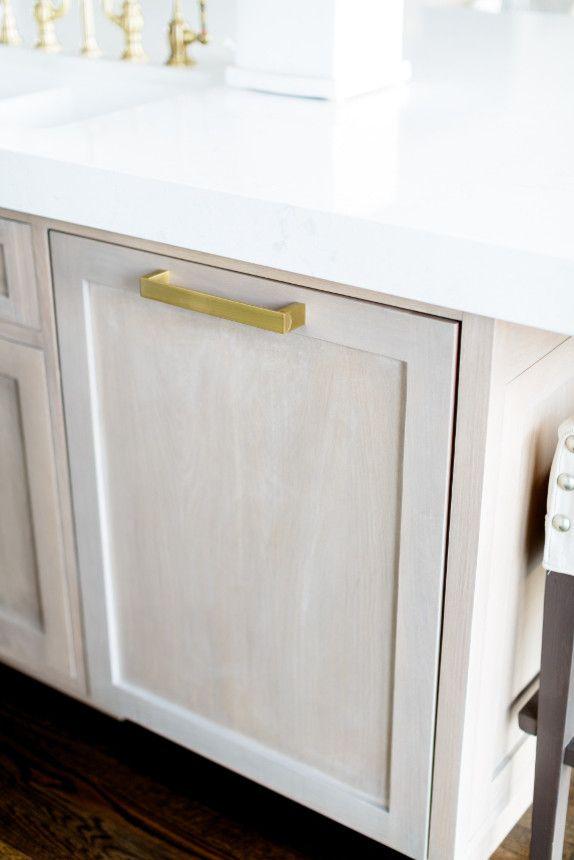 White Oak Kitchen Cabinets, Whitewashing White Cabinets