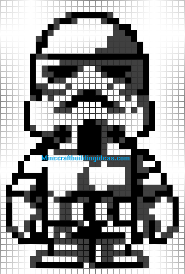 Storm Trooper Minecraft template | characters | Pixel art