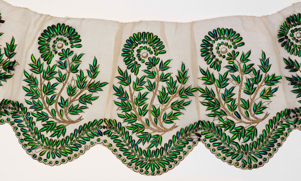 Snowshill Manor © National Trust / Simon Harris Embroidered muslin with  silk - child's gown