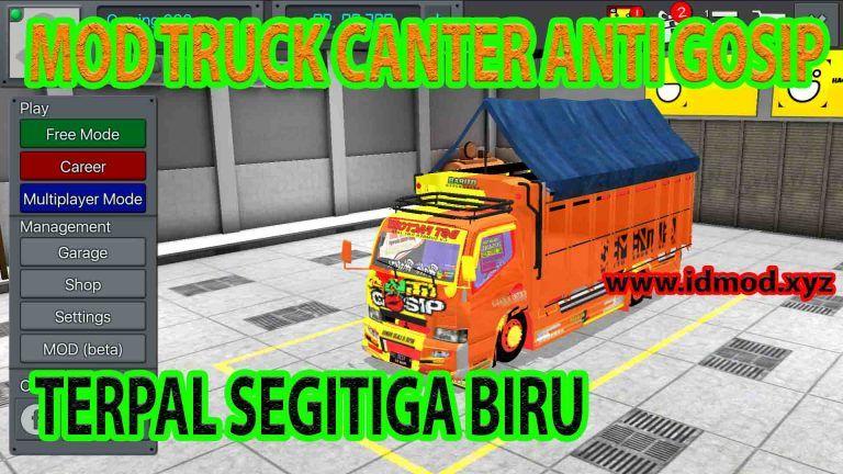 Mod Bussid Terbaru 2020 Truk Canter Anti Gosip Terpal Segitiga Biru Terpal Truk Biru Anti gosip wallpaper truck mbois