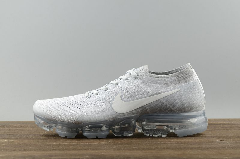 a95190fe66 Nike VaporMax 2018 Spring Summer Running Shoes Pure Platinum White-Wolf  Grey 849558-004