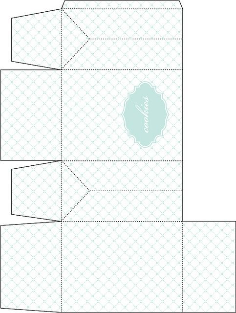 Gable Box Template for Cookie Favors | Gable boxes, Box templates ...
