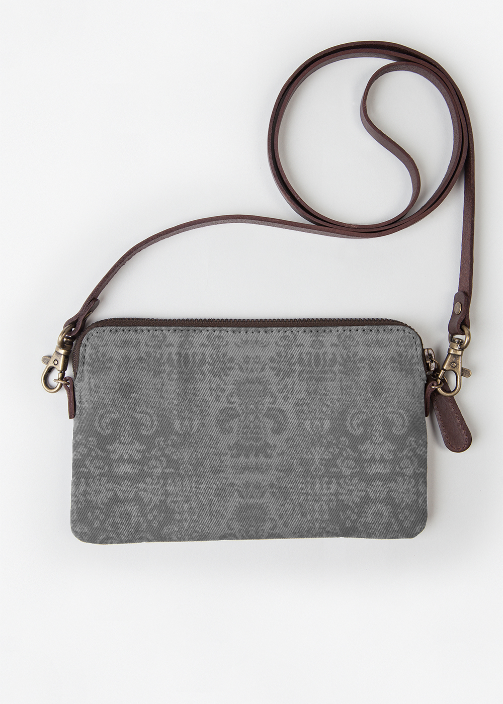 VIDA Leather Statement Clutch - Grey Scales II Clutch by VIDA dn2xjTDV9A